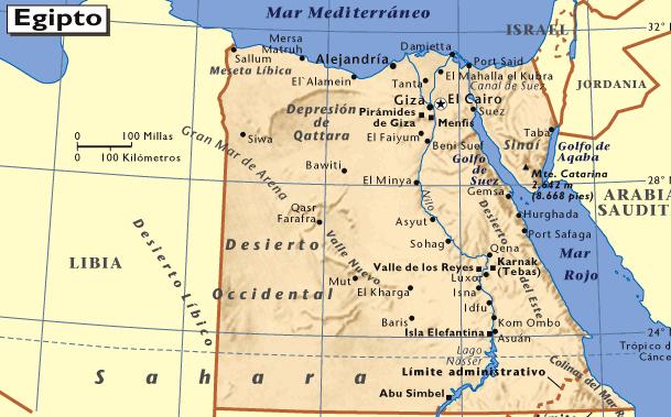 Mapa De Egipto Mapas Mapamapas Mapa